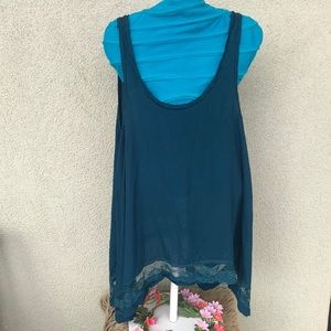 Blue Lace Free People Top